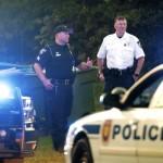 Salisbury Police Chief Jerry Stokes, in white shirt, at the scene  of the Long Street shooting.  Jon C. Lakey/Salisbury Post