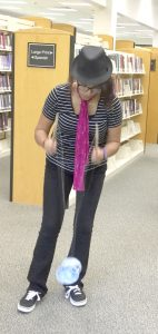 Rowan Public Library Sarah Dickinson makes fancy moves with a yo-yo, part of the Skill Toys available at Rowan Public Library.
