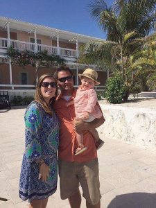 Submitted photo Ashley Maddox Knowles, husband Aaron Knowles and son Kaiden are OK after Hurricane Matthew traveled over the Bahamas on Thursday. Knowles said there was minimal to no damage on the island she lives on. Not pictured: Knowles' newborn Salem.
