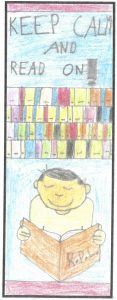 Ariel Mineran won first for 7- to 9-year-olds in the Rowan Public Library bookmarks contest.