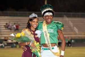 Payton Russell and Dalynn Cuthbertson, 2016 North Rowan Homecoming Queen and King