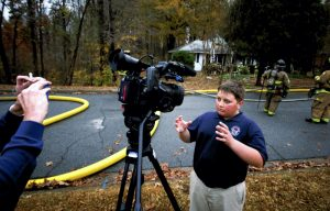 An observant 12-year-old Christian Stebe was riding by the house in a car with his mother when he noticed smoke come from the house. Stebe went to a neighbors house to have them call 911.  JON C. LAKEY / SALISBURY POST