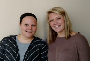 Carrie Kenney, left, and Erin Power, right, scholarship recipients. Submitted photo