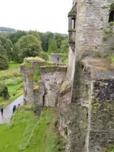 The famous Blarney Castle in Ireland, where it's said to be good luck to kiss the Blarney Stone.