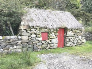A typical old farmhouse in Ireland, preserved for history.