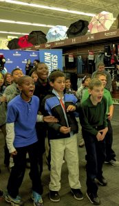 Kannapolis City Schools students get excited when they see Carolina Panthers headed their way.