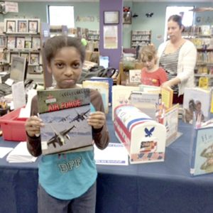 Submitted photo Children used books about the military at Rowan Public Library to inspire their hand drawn cards for Cards for a Cause.