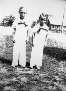The brothers as children.