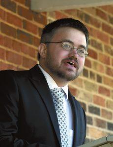 Aaron Kepley, Rowan Museum director.  photo by Wayne Hinshaw, for the Salisbury Post
