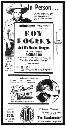 Submitted    This Salisbury Post advertisement from June 12, 1939, promotes the appearance of Roy Rogers and his Musical Rangers, scheduled to perform live stage shows at the State Theatre in Salisbury.