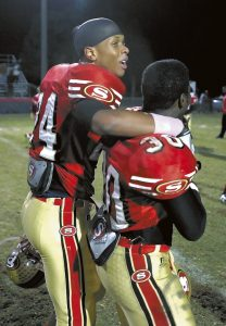 Jon C. Lakey, Salisbury Post file photo ... During his Salisbury High School days, Keion Adams (24) and Tre Jackson (30) celebrate a 10-7 win over Thomasville in 2010. The Hornets went on to win the 2AA state title.