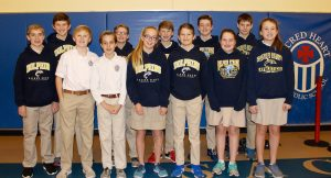 Middle school winners of the Sacred Heart science fair. Submitted photo.