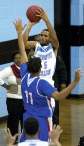 Livingstone guard Ramel Belfield hit a big 3-point basket, giving the Blue Bears a four-point lead with 1:12 remaining.