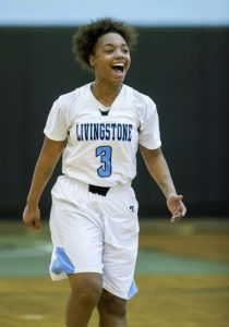 JON C. LAKEY / SALISBURY POST Livingstone's Deonna Young (3) scored 30 points to lead her team past Elizabeth City State, 88-49, last night at New Trent Gym. Young has scored 76 points in the past three games.