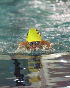 Wayne Hinshaw/for the Salisbury Post ... Salisbury's Callie Alexander won the 100-yard breaststroke on Thursday at the Rowan County Swim Championships.