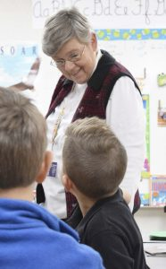 Susan Colosanti, a 40-year teacher at North Hills Christian, said her favorite thing about teaching is seeing students' excitement for learning. Rebecca Rider/Salisbury Post