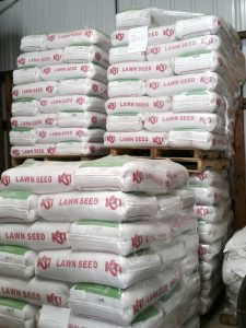 Submitted photo Piles of lawn seed stacked up at a home and garden center. It's time to start thinking about your lawn.