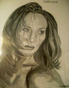 Drawing by featured artist Delores Medlin.