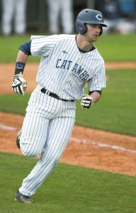 JON C. LAKEY / SALISBURY POST FILE PHOTO ... Chance Bowden, shown during a game last year, returns for his junior year as Catawba's first baseman. Bowden, of Salisbury, hit .324 in 2016 and set a school record with 31 doubles.