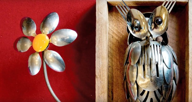 Arnold Hatley turns silverware into art